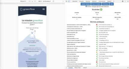 GreenIT Analysis Eco Index B Site Greenflow