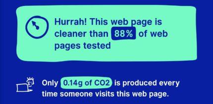 Website Carbon Estimation